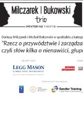 Milczarek Bukowski Trio - Mentoring Theater